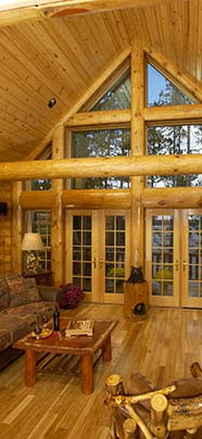 Custom Log Home Interior Photos